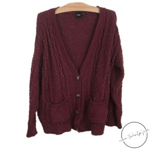 ASOS Oversized Cable Knit Cardigan Grandpa Sweater